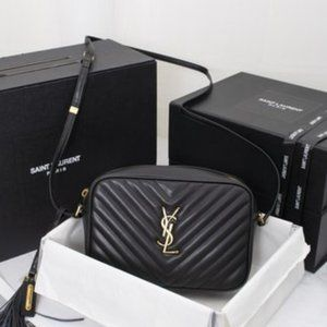 """NWT YSL Lou Matelasse Leather Camera Bag """
